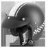 ROCC Classic Pro TT Jethelm mattschwarz-weiß