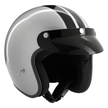 ROCC Classic Ralley jet helmet silver/black