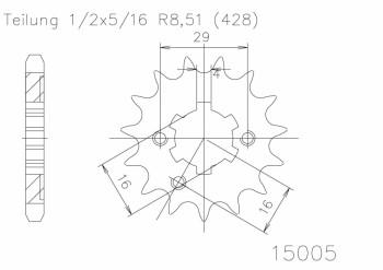 Ritzel(428) 15 Z