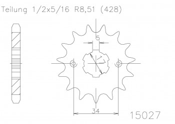 Ritzel 16 Z