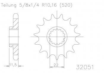 Ritzel 15 Z