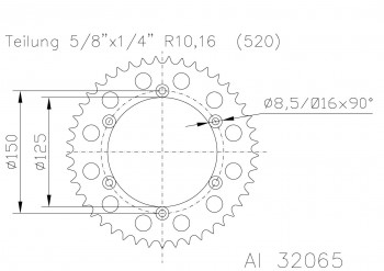Alu-KR KTM EXC/SX2T/4T SXC/LC4 40Z