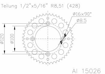 Alu-KR RM80/85'83-/YZ80/85'93(428)50Z