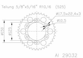 Alu-Kettenrad KTM LC8 641025 42Z