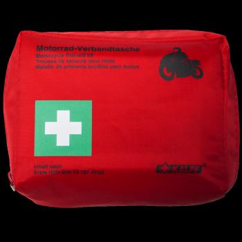 Motorradverbandtasche rot(DIN 13167)
