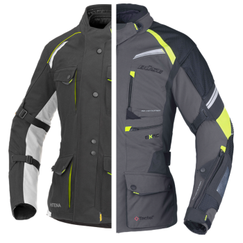 BÜSE Porto textile jacket (set) black+slate grey