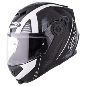 ROCC 881 flip-up helmet black-white