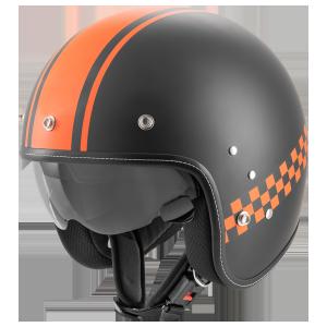 ROCC Classic Pro TT Jethelm mattschwarz-orange