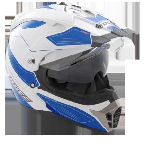 ROCC 771 Endurohelm weiß-blau