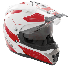 ROCC 771 casques Enduro blanc-rouge