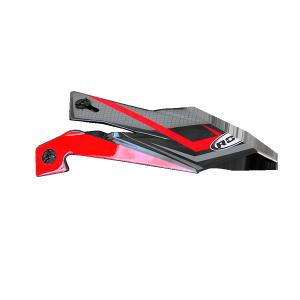 ROCC 712 Jr. Helmschirm rot/schwarz