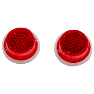 Reflektor rot rund Paar