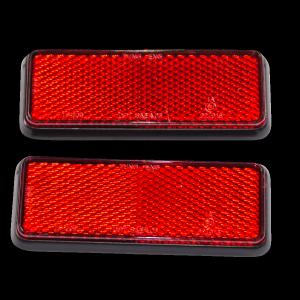 Reflektor rot eckig Paar
