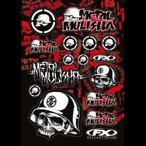 FX Sponsor Sticker Kit Metal Mulisha