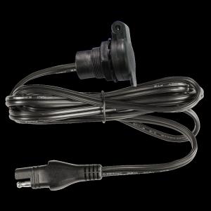 Einbausteckdose 12V mit Kabel 10AH