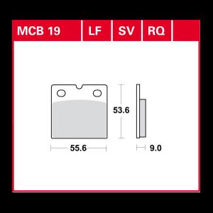Scheibenbremsbelag MCB019