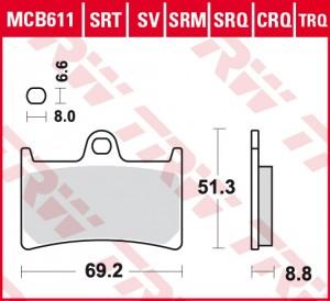 disc brake pads MCB611SCR
