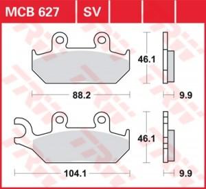 Scheibenbremsbelag MCB627SV