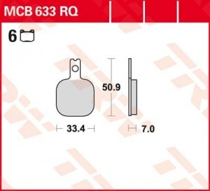 disc brake pads MCB633RQ