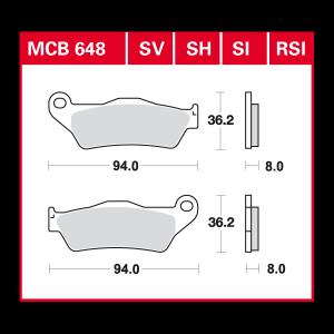 Scheibenbremsbelag MCB648