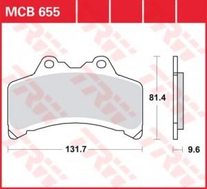 disc brake pads MCB655