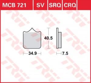 disc brake pads MCB721CRQ