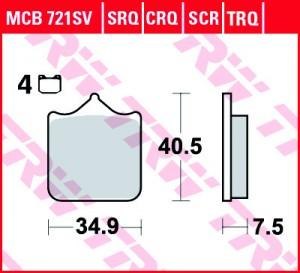 disc brake pads MCB721SCR
