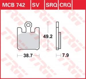 disc brake pads MCB742CRQ