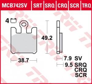 disc brake pads MCB742SCR