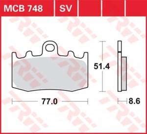 Scheibenbremsbelag MCB748SV