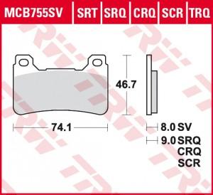 disc brake pads MCB755SCR