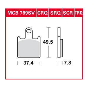 disc brake pads MCB789CRQ