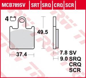 disc brake pads MCB789SCR