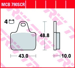 disc brake pads MCB790SCR