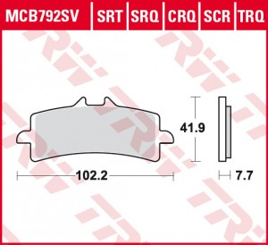 disc brake pads MCB792SCR