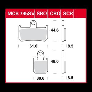 disc brake pads MCB795CRQ