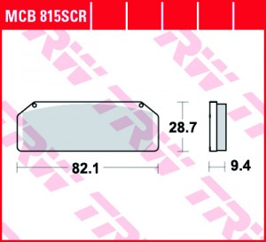 disc brake pads MCB815SCR