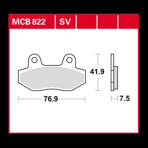 Scheibenbremsbelag MCB822