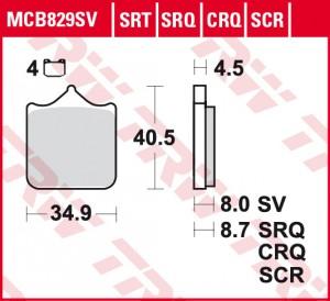disc brake pads MCB829SCR