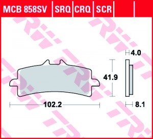disc brake pads MCB858SCR