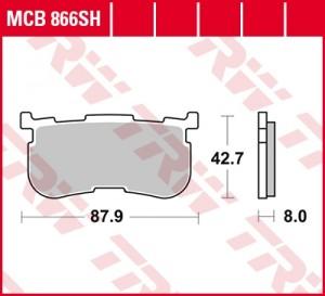 disc brake pads MCB866SH