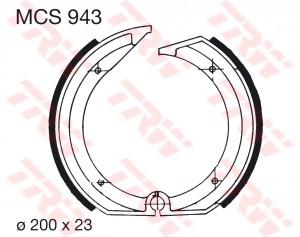 Bremsbacken MCS943