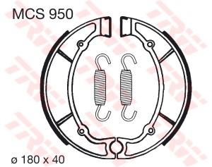 Bremsbacken MCS950