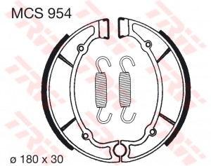 Bremsbacken MCS954