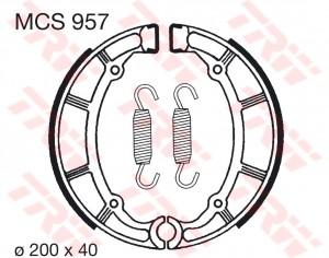 Bremsbacken MCS957