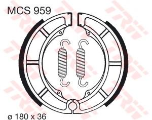 Bremsbacken MCS959