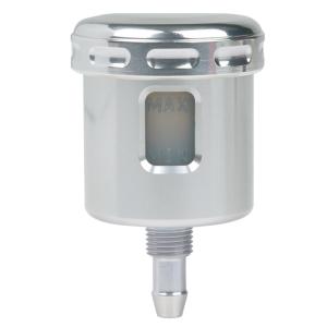 Mini brake fluid reservoir Alu straight silver