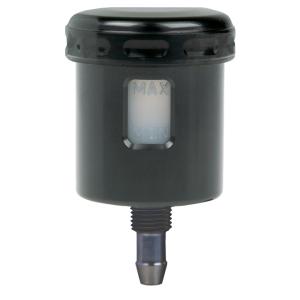 Mini fluid reservoir Alu straight black