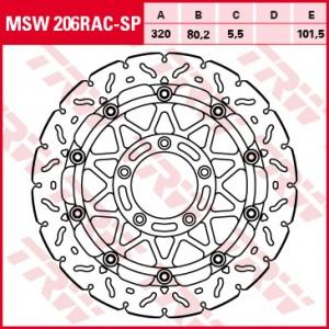 Racing brake disc without ABE MSW206RACSP