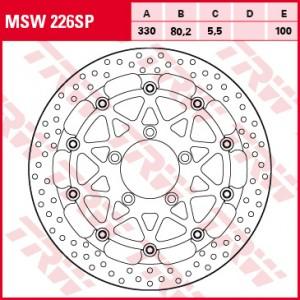 Racing brake disc MSW226SP